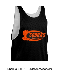 Youth Zone Sleeveless Reversible lacrosse Jersey Design Zoom